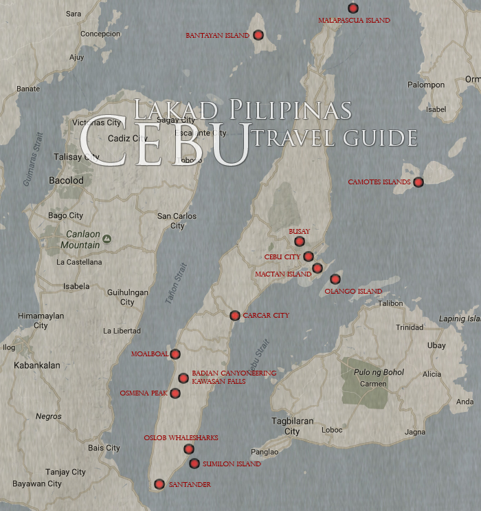 Cebu Tourist Spot Map